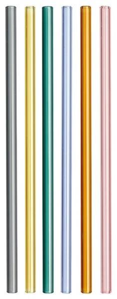 TFA 14.2019.06 bunte Trinkhalme aus Glas Trinkröhrchen Glashalme