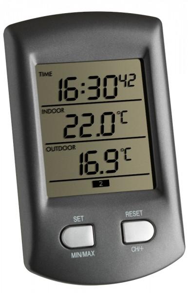 Funkthermometer Ratio TFA 30.3034 Funkuhr digital Thermometer