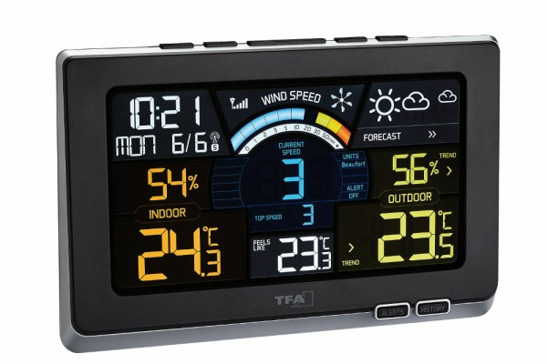 Funk-Wetterstation Spring Breeze TFA 35.1140.01 Funk Windmesser Farbdisplay
