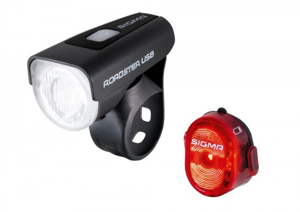 Sigma Fahrradlampe Roadster Set 18580 Beleuchtung