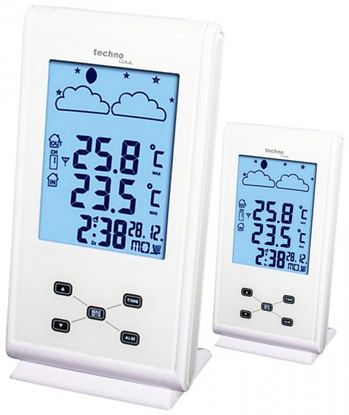 Technoline Funkwetterstation WS 9260 Plus Wetterstation mit 2 Displays