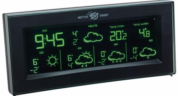 Satellitengestützte Funk-Wetterstation AURA TFA 35.5061.01.IT Farbwechsel-Display