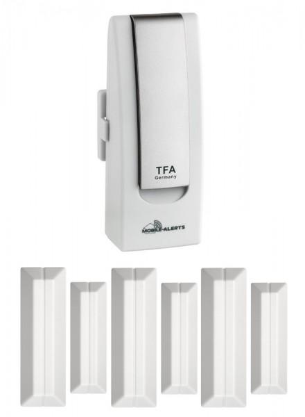TFA-Dostmann Haus-Überwachungsset TFA 31.4000.02.TF.Basic Weatherhub Tür und Fensteralarm